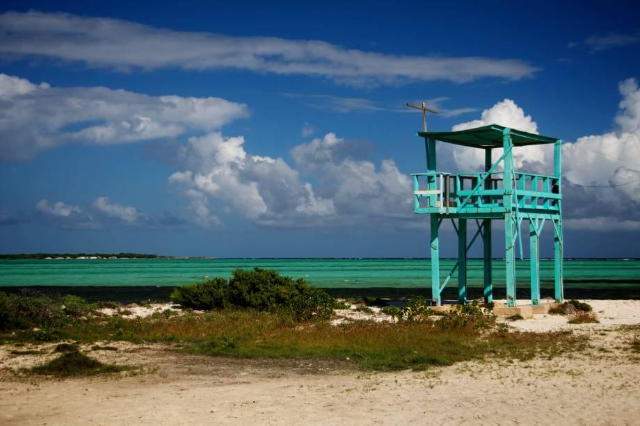 "O mar caribenho do <a href=""http://viajeaqui.abril.com.br/cidades/bonaire-kralendijk"" rel=""Bonaire"" target=""_blank""><strong>Bonaire</strong></a>"