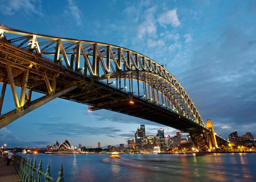 Vista da Sydney Harbour Bridge a partir de Milsons Point