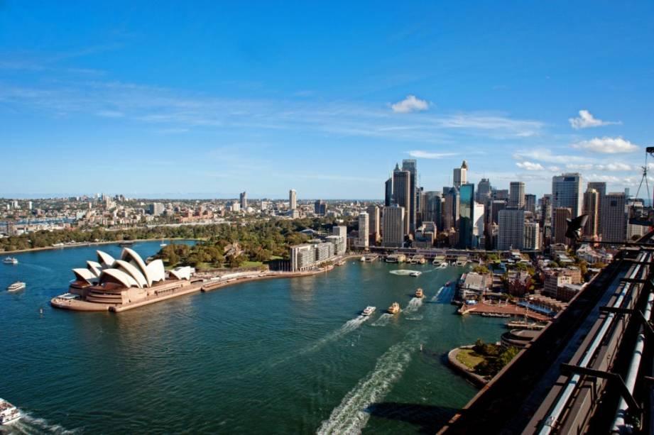 Região de Circular Quay e a Opera House de Sydney