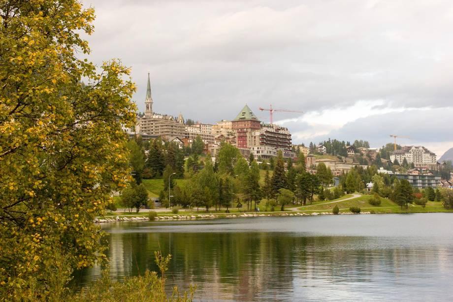 St. Moritz é bonitinha, mesmo depois de a neve derreter