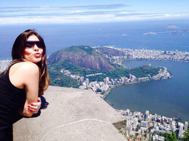 Para Virgínia Seneme, a vista do Rio de Janeiro (RJ) a partir do mirante do Cristo Redentor é um dos lugares mais lindos da cidade