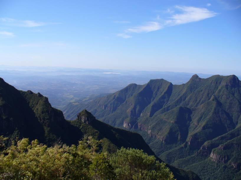 Paisagem da Serra do Rio do Rastro, em Bom Jardim da Serra, Santa Catarina, na área do Rio do Rastro Eco Resort