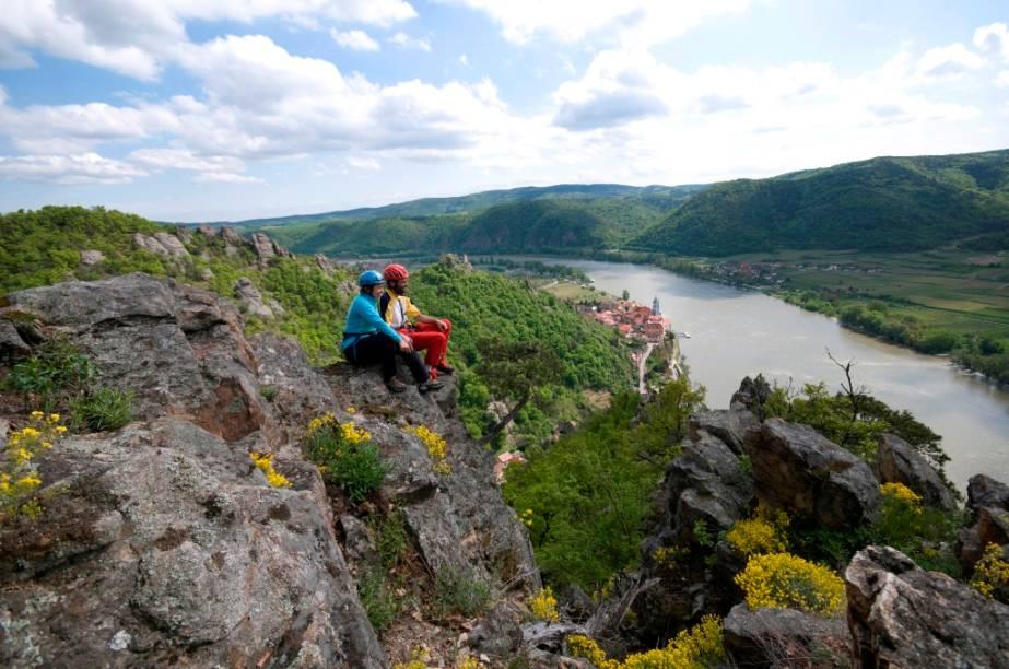 O trecho do Danúbio entre as cidades de Melk e Krems, na Áustria, é conhecido como Wachau, listado como patrimônio da humanidade pela Unesco