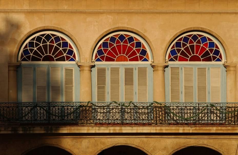 Detalhe de edifício em Havana