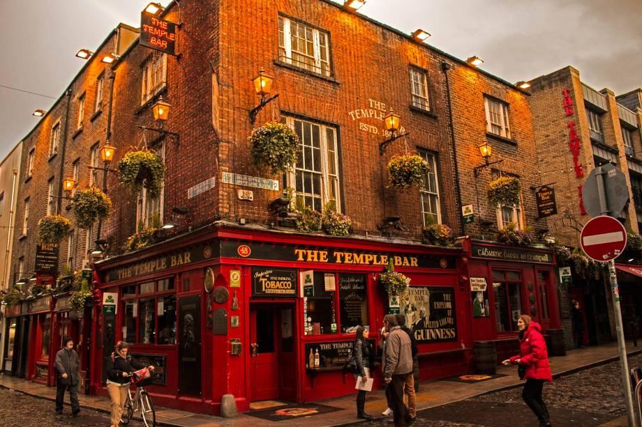 A região do Temple Bar concentra os pubs mais badalados de Dublin