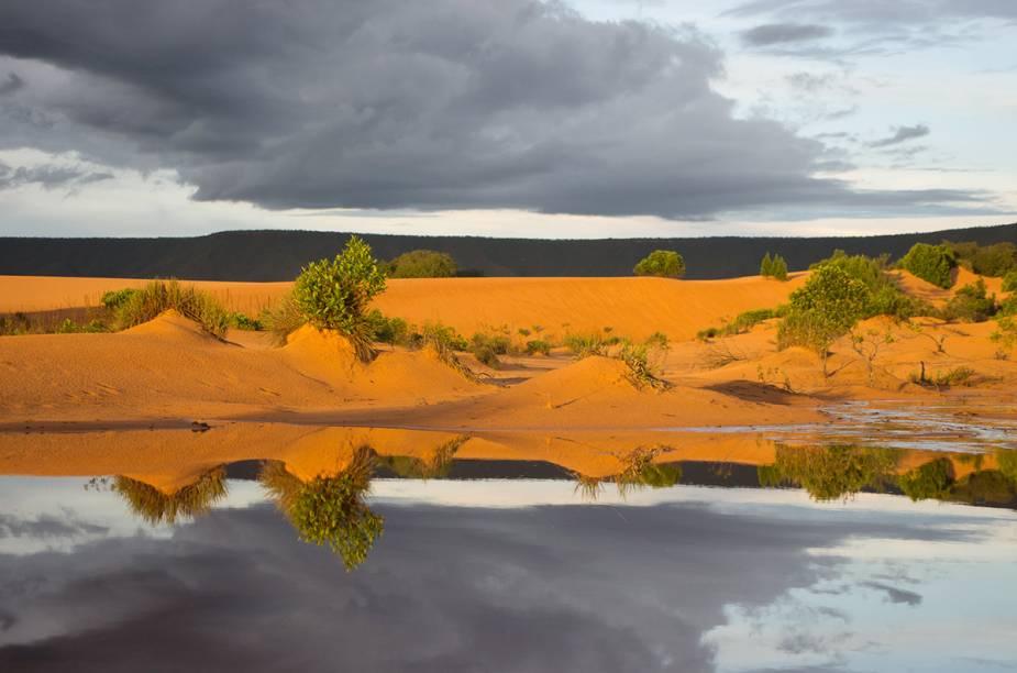 As dunas do <strong>Parque Estadual do Jalapão</strong> podem chegar a medir 30 metros de altura e mudam constantemente de lugar, movidas pelos ventos