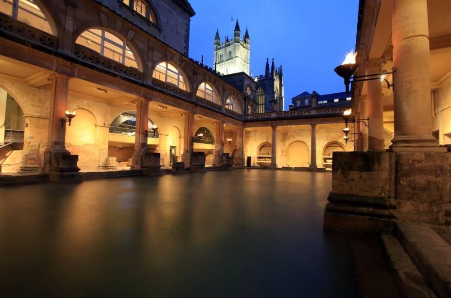 Termas romanas em Bath são algumas das heranças deixadas pelas legiões na Grã-Bretanha