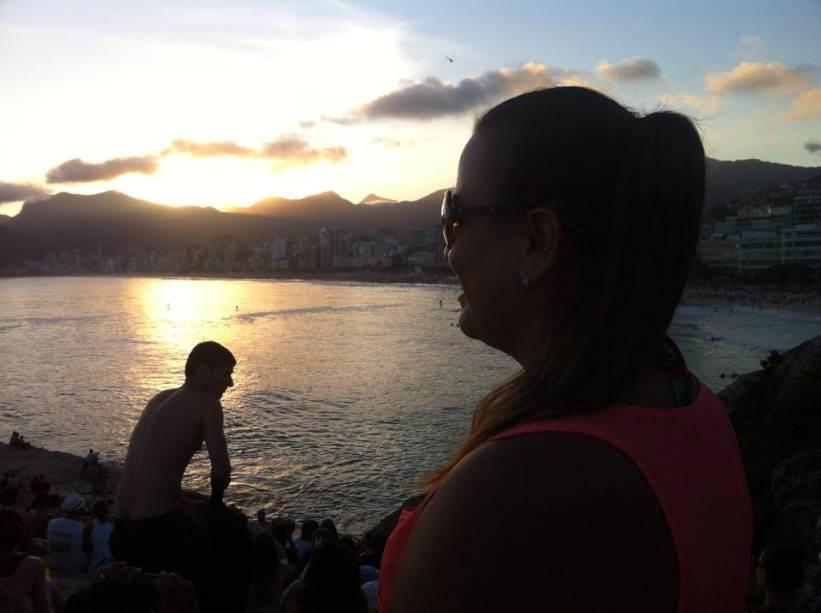 Valquiria Baltieri fez uma foto do famoso pôr do sol no Arpoador