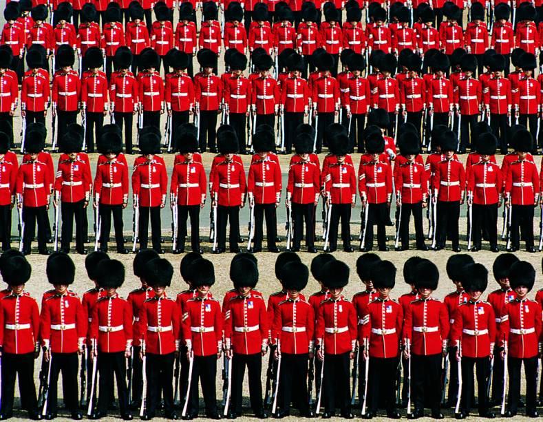 Desfile da guarda real em Londres