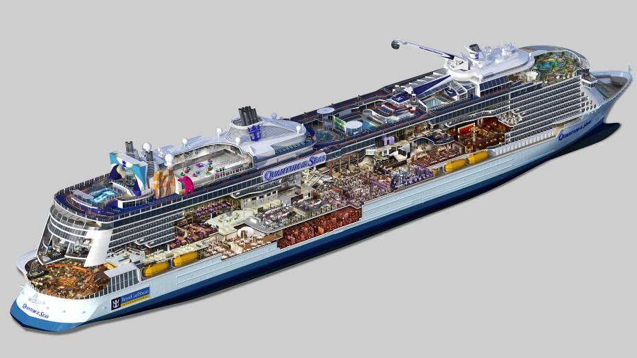 <strong>Quantum of the Seas</strong>Imagem geral de como será o navio da Royal Caribbean International