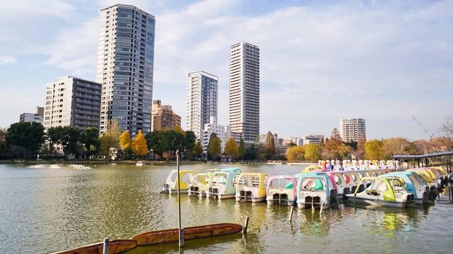 Pedalinhos no Parque Ueno