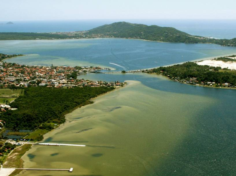 Vista aérea da Lagoa da Conceição