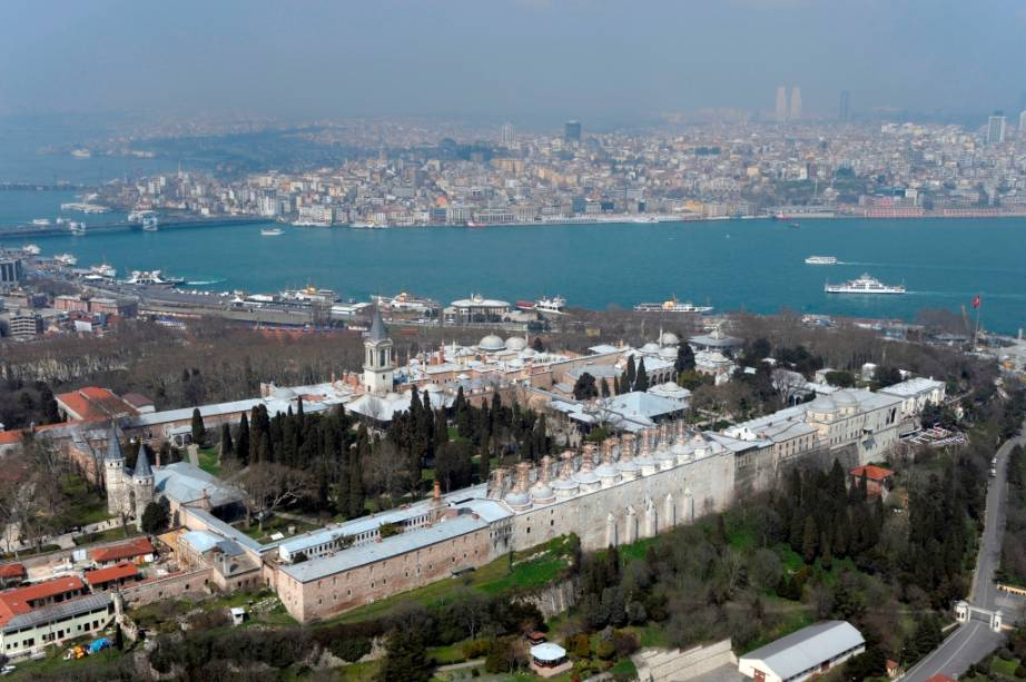Vista geral do Palácio Topkapi