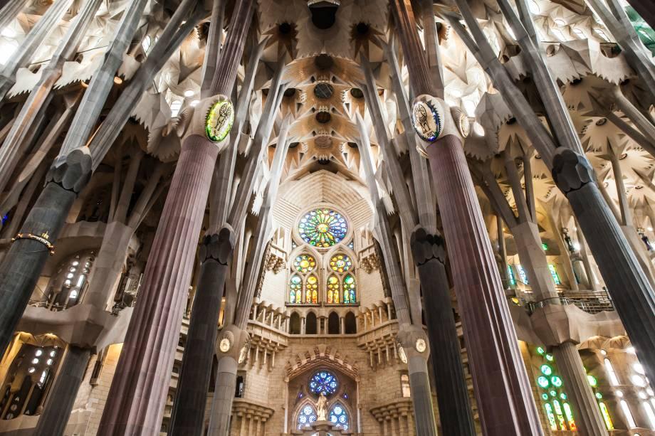 Nave da Sagrada Família, em Barcelona