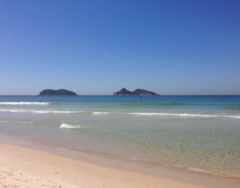 Praia da Barra da Tijuca, um dos cantos cariocas favoritos da internauta Bianca Bertelli