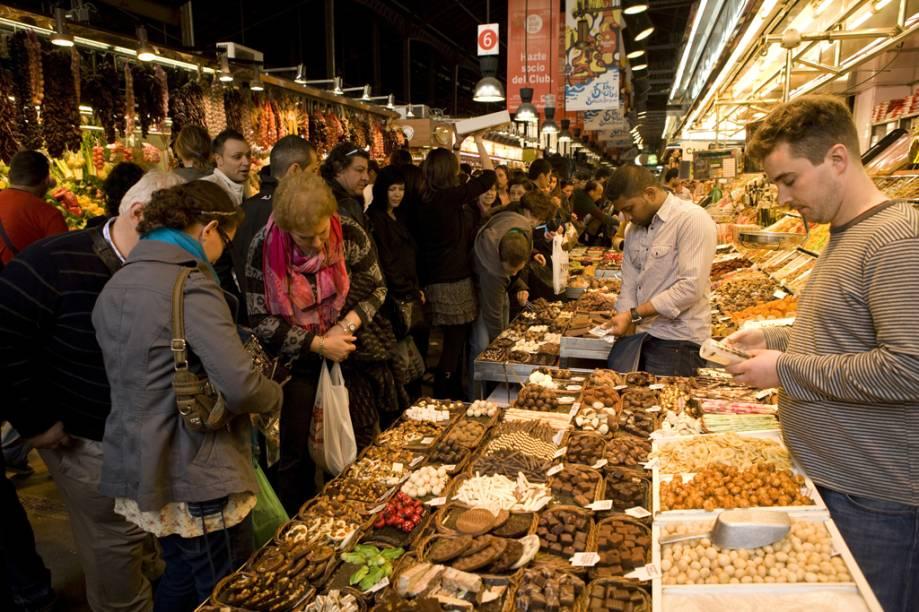 O Mercado de La Boquería é o mais agitado de Barcelona