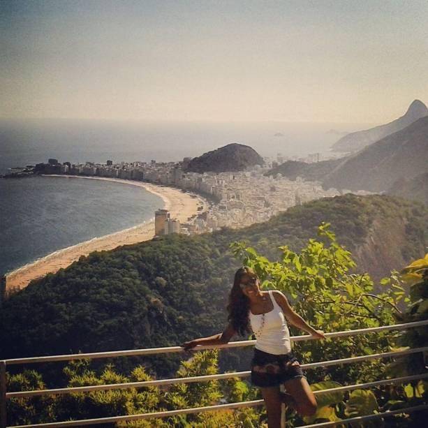 """""""Este é o lugar que mais amei no Rio de Janeiro. Essa foto foi tirada no Morro da Urca"""", escreve Thamilis Nascimento"""