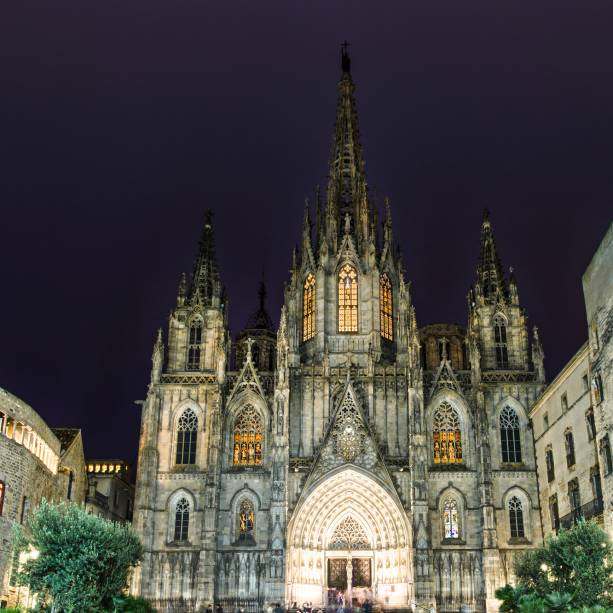 Seu, a Catedral de Barcelona, no Bairro Gótico
