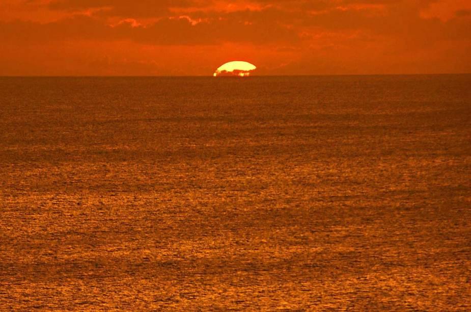 Pôr do sol em Fernando de Noronha
