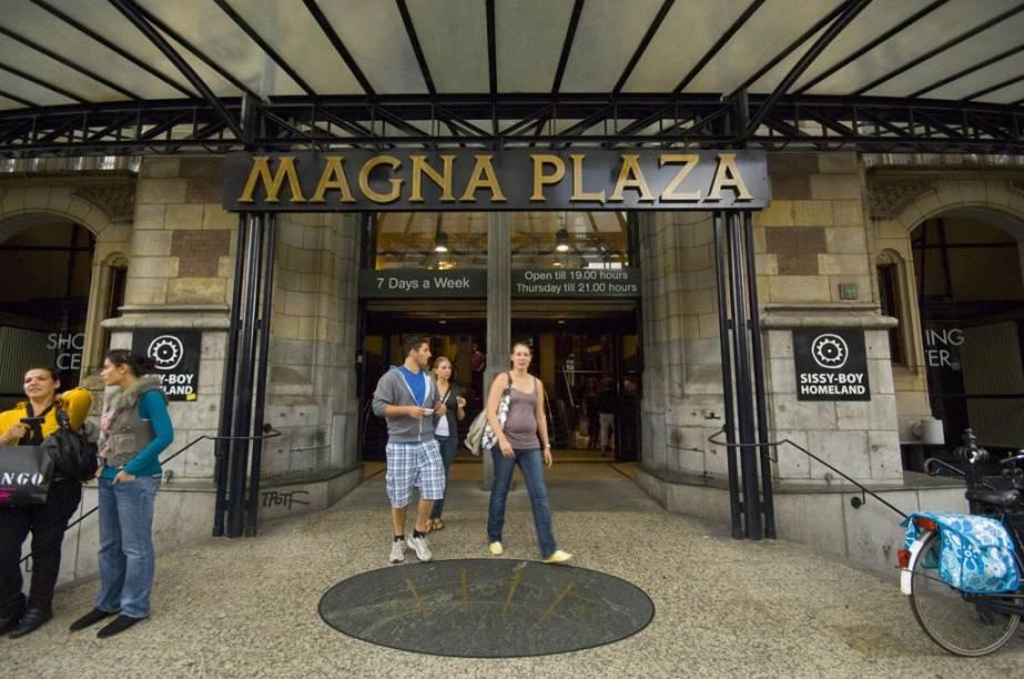 Shopping Center Magna Plaza, no centro de Amsterdã