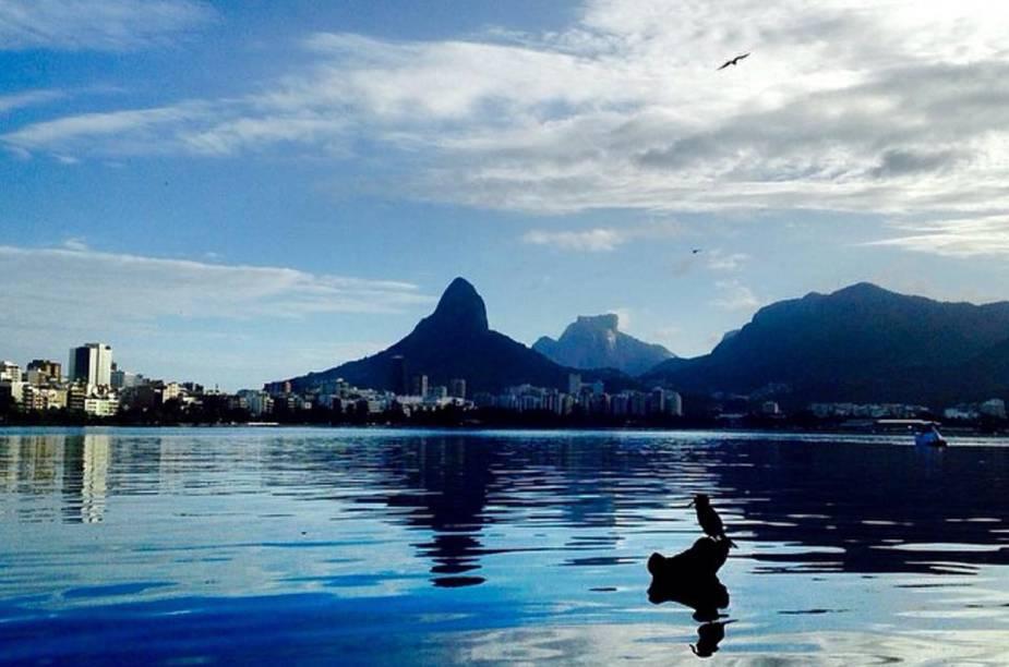 Naldo Galindo é apaixonado pela Lagoa Rodrigo de Freitas e fez este clique