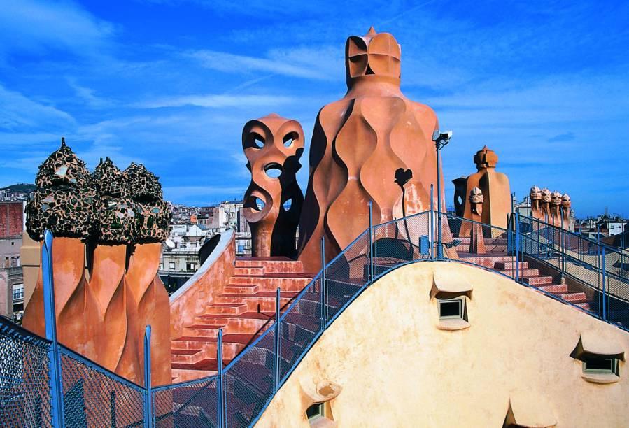 As formas exóticas da Casa Milá provocaram polêmica quando foram construídas por Gaudí no século 19