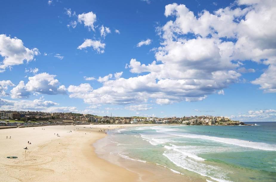 A praia de Bondi Beach, em Sydney, que fica lotada de australianos no verão