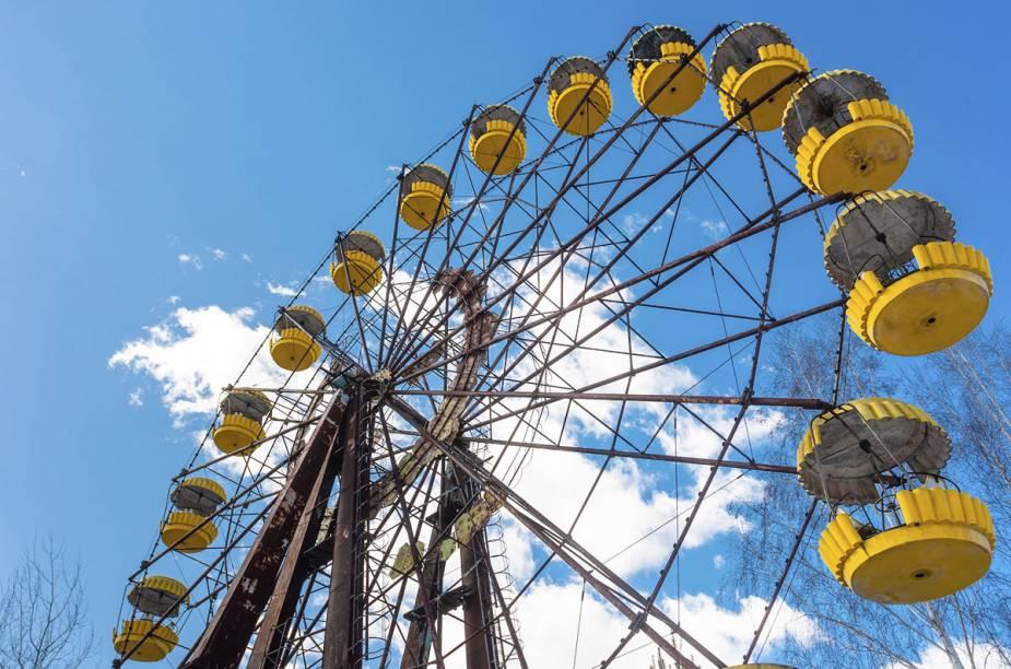 A roda gigante é um dos pontos mais turísticos de Pripyat