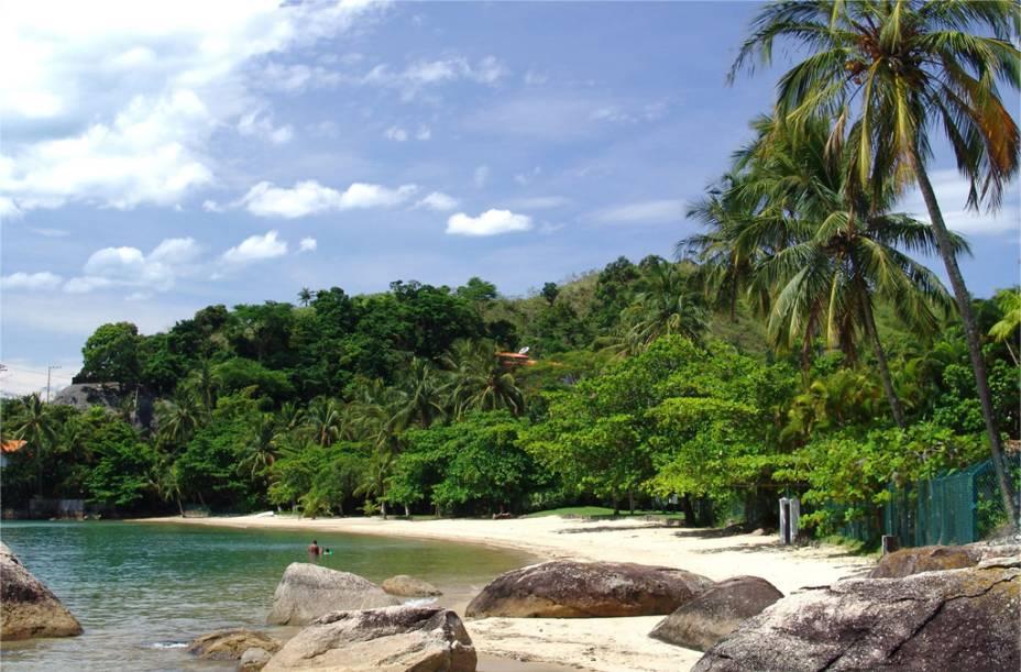 <strong>Praia de Santa Tereza</strong>, onde ficam a cooperativa e o píer de pescadores