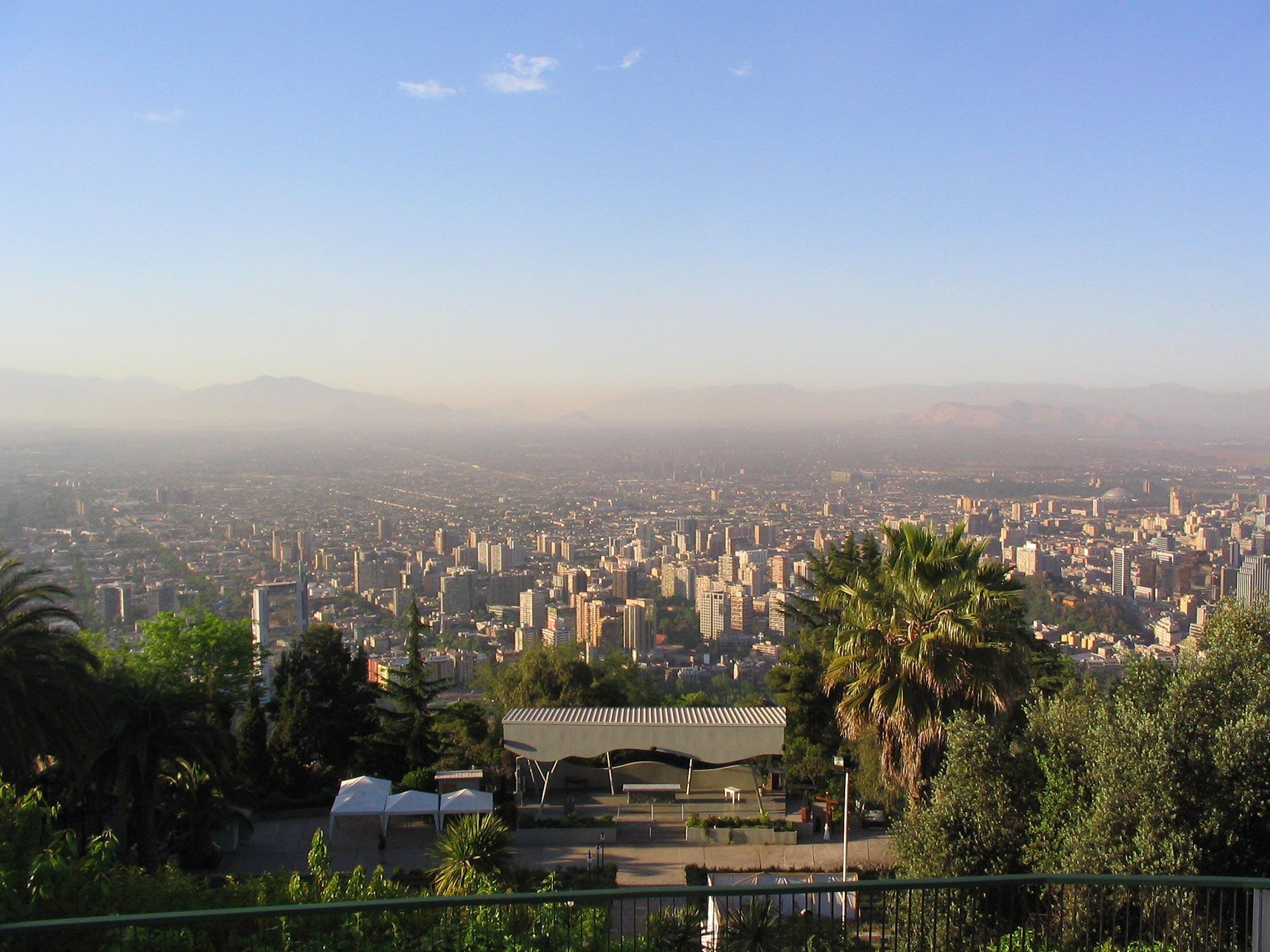 Cerro San Cristóbal em Santiago, Chile