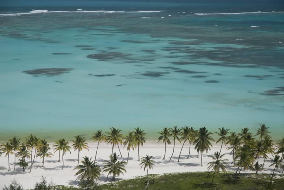 A Praia de Juanillo, ao sul de Punta Cana, tem acesso somente pelo complexo hoteleiro Cap Cana