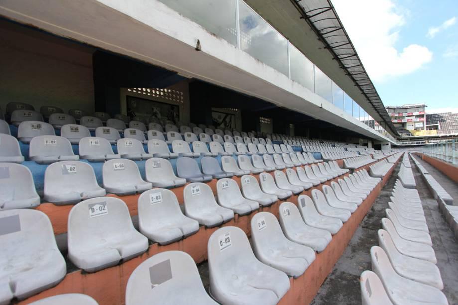 Neste setor do estádio, os torcedores compram os ingressos pela internet e escolhem onde vão sentar, sem pegar filas