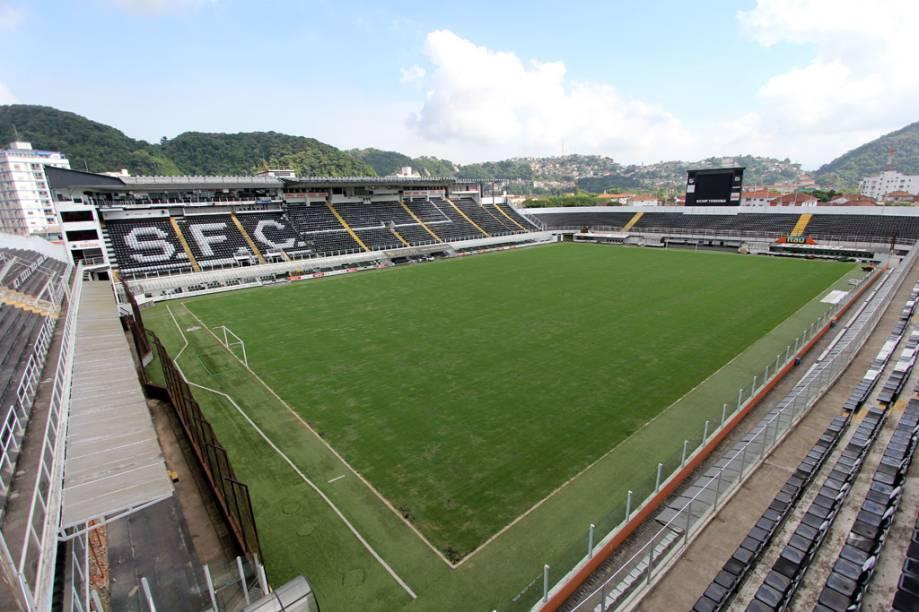 Um dos estádios mais tradicionais do Brasil, a Vila Belmiro foi palco de grandes conquistas do Santos