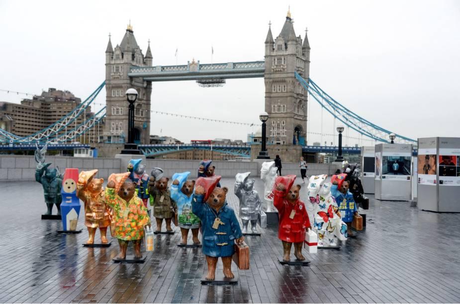 As estátuas do Paddington Bear estarão espalhadas por Londres até o dia 28 de dezembro
