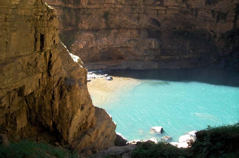 Cachoeira da Água Fria, em Formosa