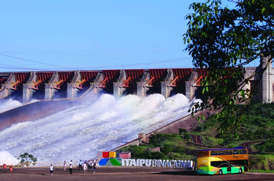 Usina Hidrelétrica de Itaipu, em Foz do Iguaçu, Paraná