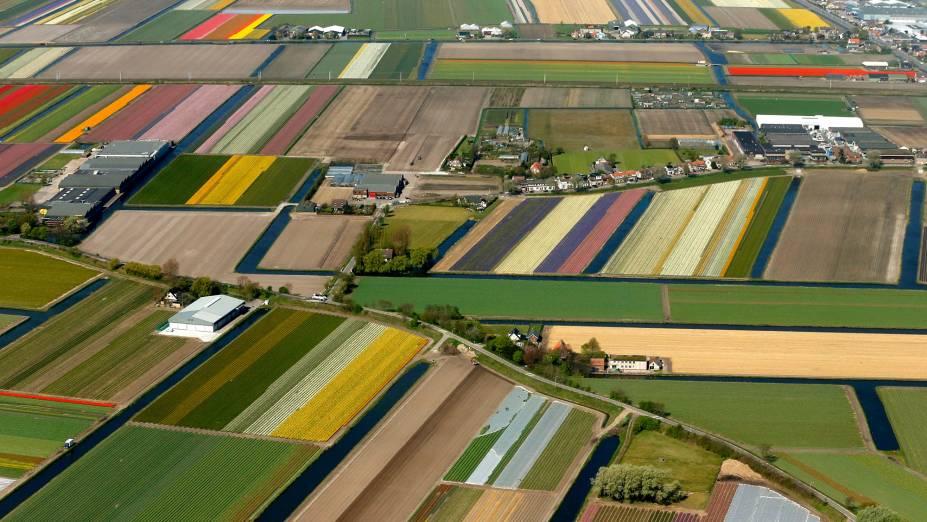 Vista aérea do Parque Keukenhof