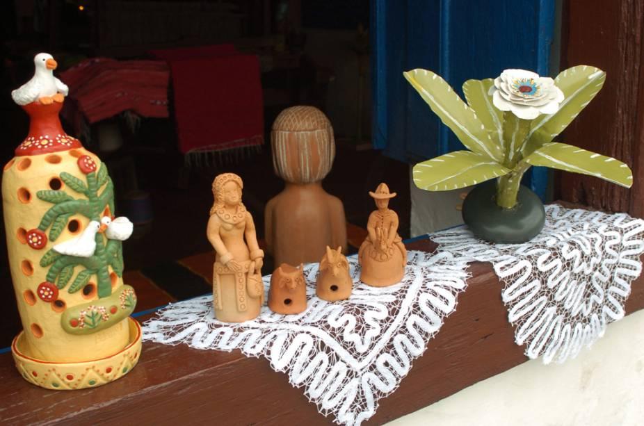 Peças expostas na Casa Açoriana, galeria de arte e museu de arte popular em Florianópolis