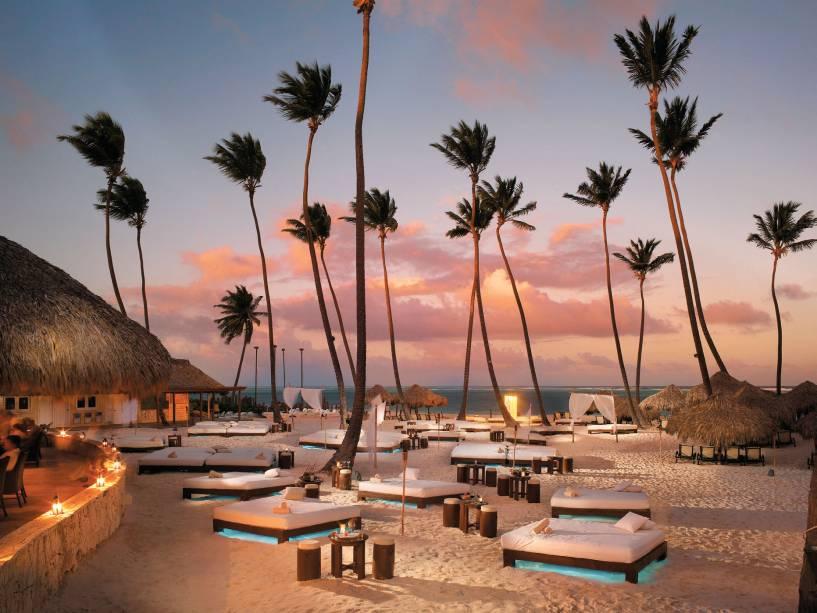 O Gabi Beach, o lounge vip entre palmeiras do resort Paradisus Palma Real
