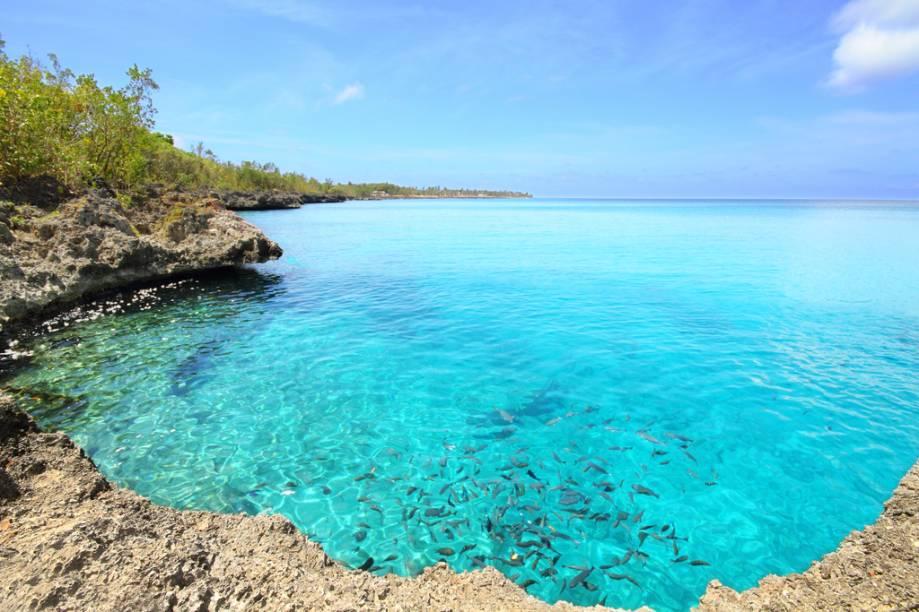 Em San Andrés, La Piscinita é uma piscina natural, com peixes multicoloridos, bastante procurada para mergulho com máscara e snorkel