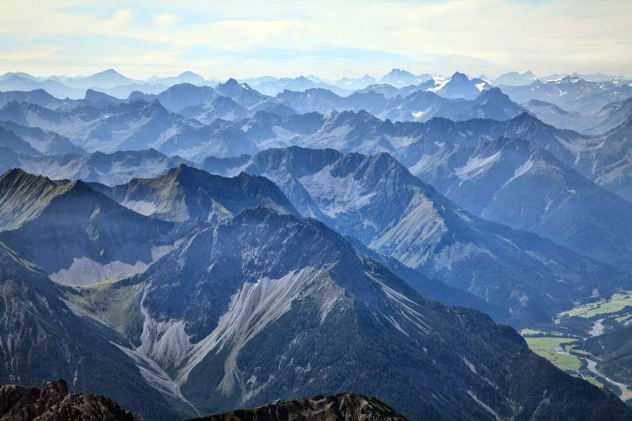 Alpes em Lechtaler, Tirol