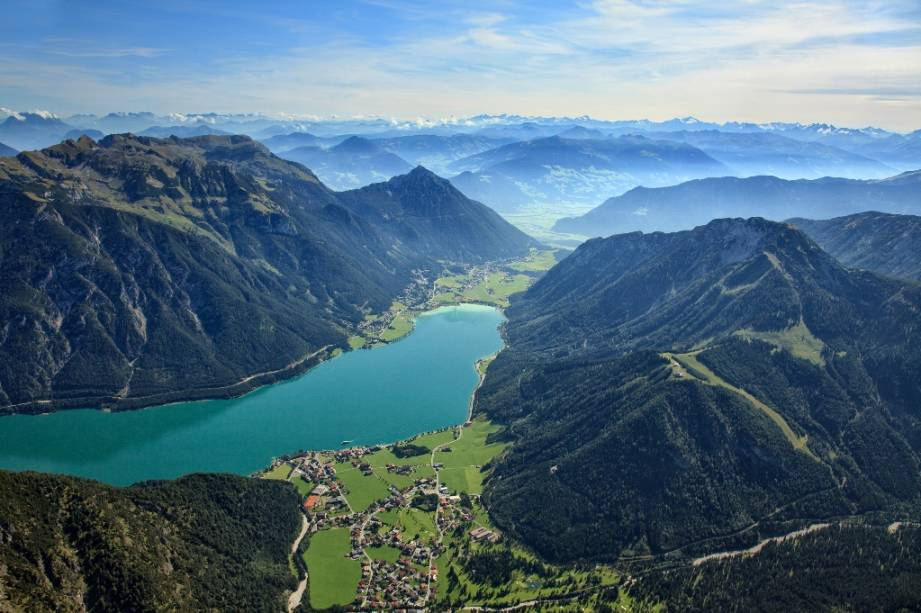 Lago Achensee, no Tirol