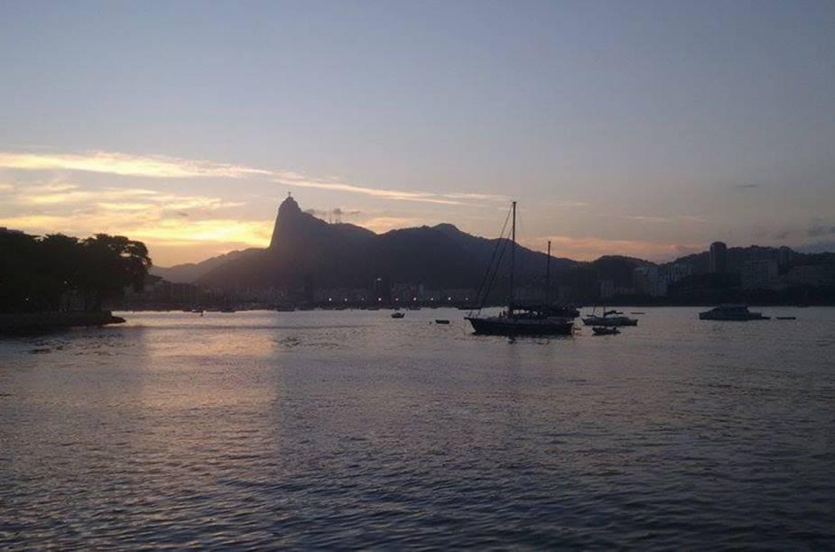 Renata Carmo nos presentou com essa bela imagem da Praia da Urca