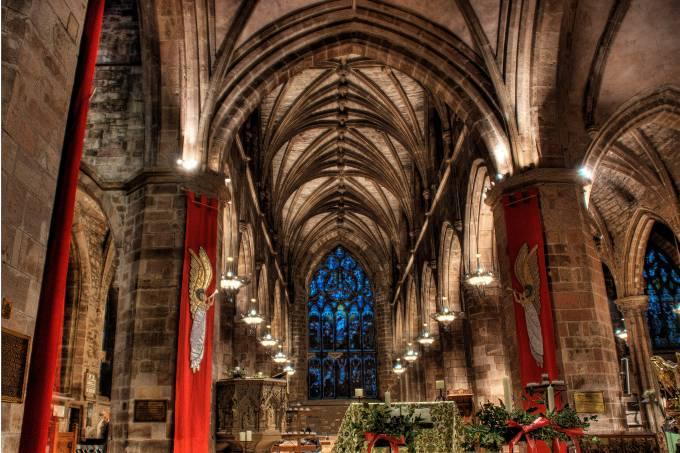 St Giles' Cathedral em Edimburgo, na Escócia