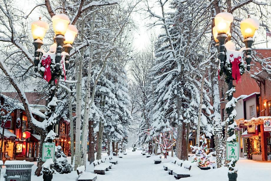 Quer esquiar com ostentação? Aspen-Snowmass, perto de Denver, no Colorado, é o resort de esqui favorito das celebridades dos Estados Unidos