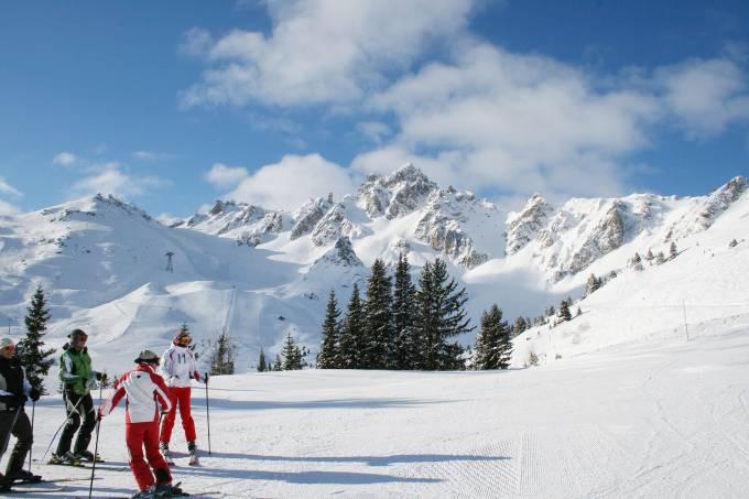 Resort de esqui de Courchevel, na França