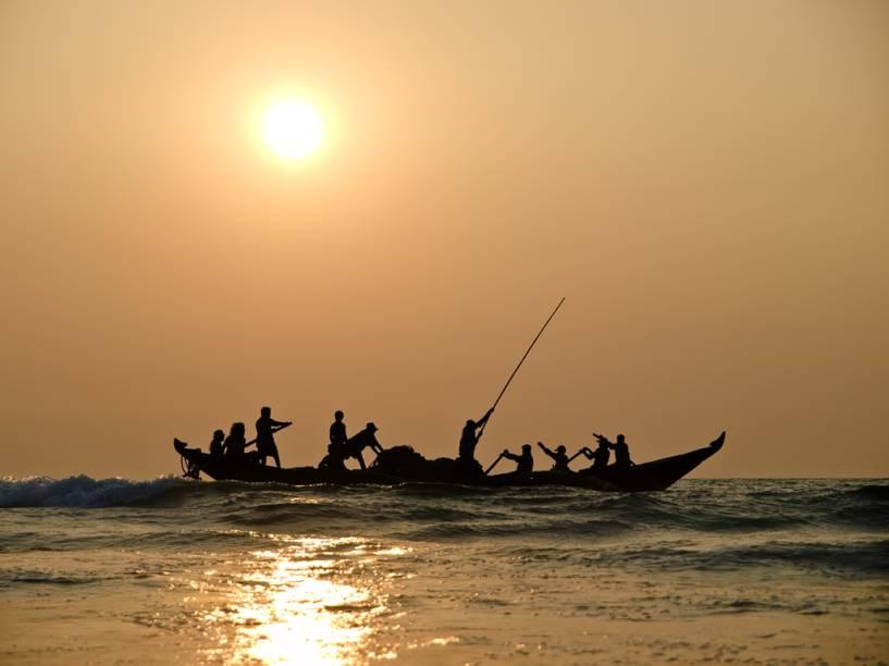 Pesca tradicional no litoral de Goa