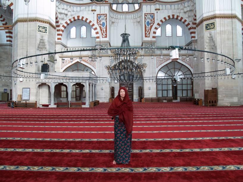 Sala de oração da mesquista Sahzade, em Faith