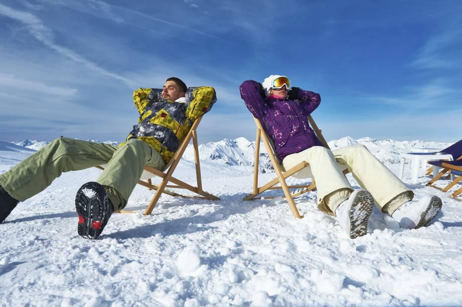 O après-ski: relaxadão, na neve, como se fosse praia