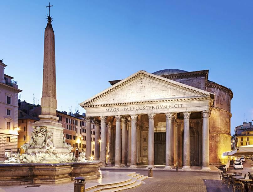Um dos monumentos mais preservados da Roma Antiga é o Pantão, em Roma